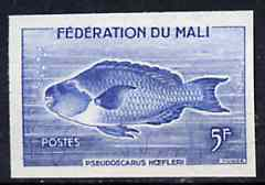 Mali 1960 Parrot Fish 5f unmounted mint imperf colour trial proof (several different combinations available but price is for ONE) as SG 3
