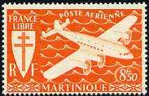 Martinique 1945 Fairey FC-1 the unissued 8f50 in orange unmounted mint, extremely rare
