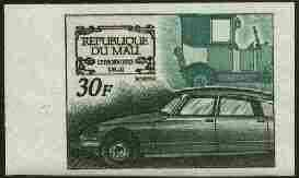 Mali 1969 French Motor Industry 30f (Citroen) IMPERF from limited printing, as SG 189