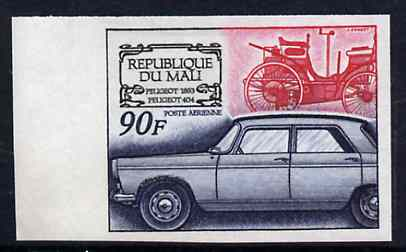 Mali 1969 French Motor Industry 90f (Peugeot) IMPERF from limited printing, as SG 191