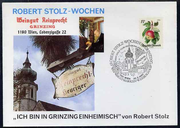 Austria 1980 Illustrated cover for Robert Stolz Commemoration with special cancel