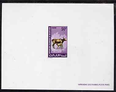 Mauritania 1968 Domesic Animals 50f (Cow & Calf) deluxe sheet in full issued colours, as SG 320