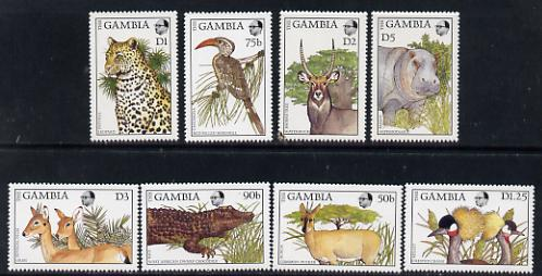 Gambia 1988 Flora & Fauna set of 8 unmounted mint, SG 761-68