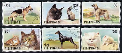 Philippines 1979 Cats & Dogs set of 6 cto used, SG 1539-44*