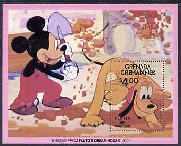 Grenada - Grenadines 1981 50th Anniversary of Walt Disneys Pluto unmounted mint m/sheet SG MS 433