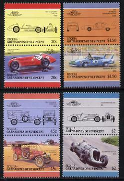 St Vincent - Bequia 1985 Cars #4 (Leaders of the World) set of 8 unmounted mint