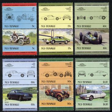 Tuvalu - Nui 1985 Cars #2 (Leaders of the World) set of 12 unmounted mint