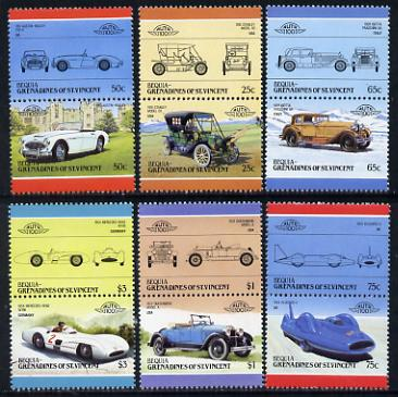 St Vincent - Bequia 1986 Cars #5 (Leaders of the World) set of 12 unmounted mint