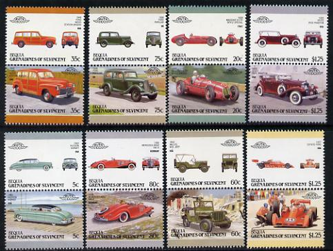 St Vincent - Bequia 1987 Cars #7 (Leaders of the World) set of 16 unmounted mint