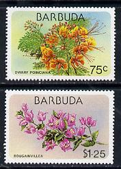 Barbuda 1978 Flora & Fauna 75c & $1.25 (the two vals depicting Flowers) SG 439 & 441 unmounted mint