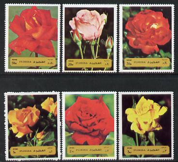 Fujeira 1972 Roses perf set of 6 unmounted mint, Mi 1251-56