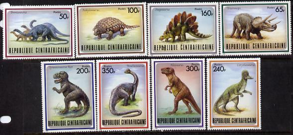 Central African Republic 1988 Prehistoric Animals set of 8 unmounted mint, SG 1291-98*