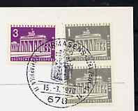 Postmark - West Berlin 1970 postcard with special Pirmasens cancellation for Pirmaphila II Stamp Exhibition illustrated with Bavaria 18kr stamp