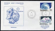 French Southern & Antarctic Territories 1989 Crystals set of 2 on illustrated cover with first day cancel, SG 252-53