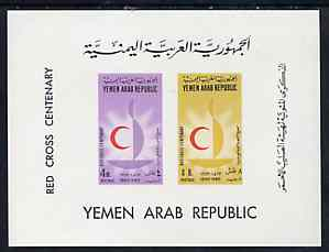 Yemen - Republic 1963 Red Cross Centenary imperf m/sheet unmounted mint, SG MS 239a, Mi BL 18