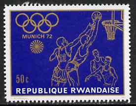 Rwanda 1971 Basketball 50c unmounted mint from Nunich Olympic Games set of 8, SG 426*