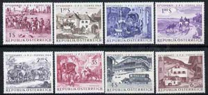 Austria 1964 UPU (Paintings of Mail Transport) set of 8 unmounted mint, SG 1420-27