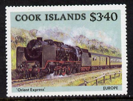 Cook Islands 1985 Famous Trains $3.40 Orient Express unmounted mint SG 1029