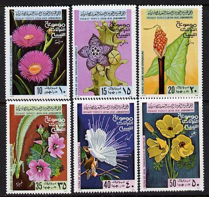 Libya 1979 Flowers set of 6 unmounted mint, SG 900-05
