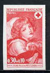 France 1971 Red Cross Fund (30c+10c Painting 'Girl with Dog') unmounted mint IMPERF colour trial proof (several colour combinations available but price is for ONE) as SG 1942
