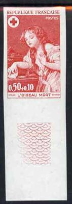 France 1971 Red Cross Fund (50c+10c Painting 'The Dead Bird') unmounted mint IMPERF colour trial proof (several colour combinations available but price is for ONE) as SG 1943