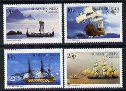 Summer Isles (British Local) 1982 ? Ships set of 4 unmounted mint*