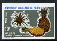 Benin 1978 Postage Due 10f Pineapples imperf in issued colours from limited printing, as SG D716