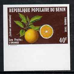 Benin 1978 Postage Due 40f Oranges imperf in issued colours from limited printing, as SG D718