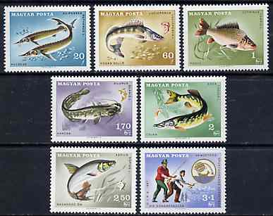 Hungary 1967 Angler's Federation (Fish) unmounted mint set of 7, SG 2296-2302, Mi 2344-50