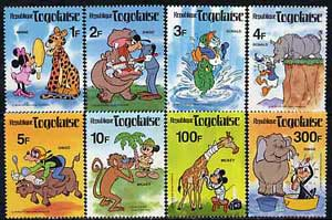 Togo 1980 Walt Disney characters & Wildlife unmounted mint set of 8, SG 1487-94*