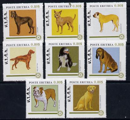 Eritrea 1984 Rotary - Dogs perf set of 8 unmounted mint