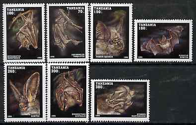 Tanzania 1995 Bats perf set of 7 unmounted mint, Mi 2086-32*