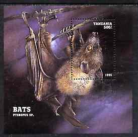 Tanzania 1995 Bats perf m/sheet unmounted mint, Mi BL 286