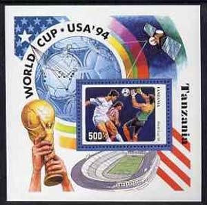 Tanzania 1994 Football World Cup unmounted mint m/sheet, SG MS 1899, Mi BL 249