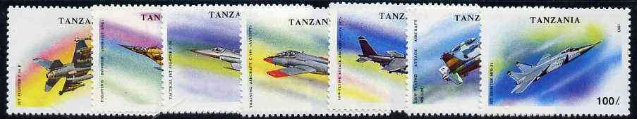 Tanzania 1993 Military Aircraft perf set of 7 unmounted mint, SG 1673-79, Mi 1591-97*