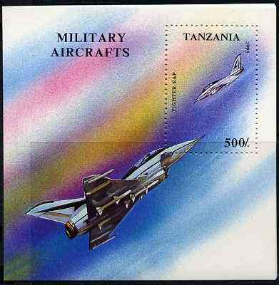 Tanzania 1993 Military Aircraft unmounted mint m/sheet, SG MS 1680, Mi BL 226