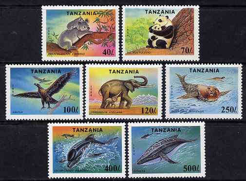 Tanzania 1994 Endangered Species unmounted mint set of 7, SG 1807-13, Mi 1775-81*