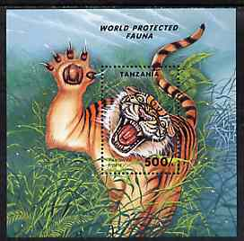 Tanzania 1994 Endangered Species unmounted mint m/sheet (Tiger) unmounted mint SG MS 1814, Mi BL 251
