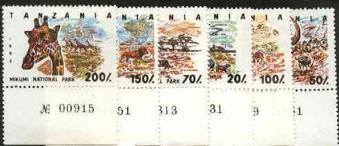 Tanzania 1993 National Parks (Animals) unmounted mint set of 7, SG 1689-95, Mi 1607-13*