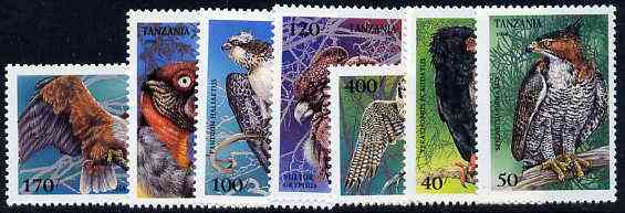 Tanzania 1994 Birds of Prey unmounted mint set of 7, SG 1847-53, Mi 1854-60*