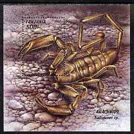 Tanzania 1994 Arachnids (Spiders) unmounted mint m/sheet, SG MS 1837, Mi BL 255