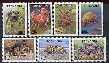 Tanzania 1994 Crabs perf set of 7 unmounted mint, SG 1830-36, Mi 1798-1804*
