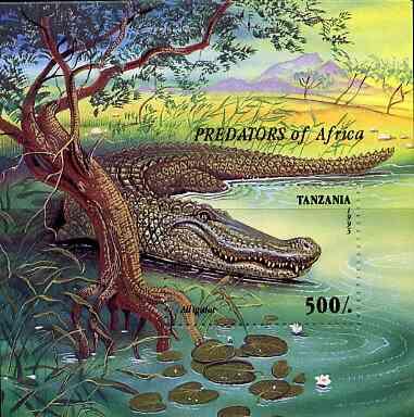 Tanzania 1995 Predators unmounted mint m/sheet, Mi BL 302
