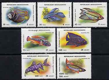 Madagascar 1994 Fishes unmounted mint set of 7, Yv 1249-55*