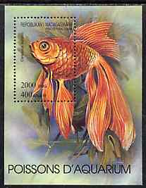Madagascar 1994 Fishes unmounted mint m/sheet, Yv BL 87
