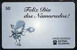 Telephone Card - Brazil 20 units phone card showing Cupid