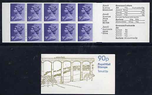 Booklet - Great Britain 1978-79 British Canals #2 (Llangollen Canal) 90p folded booklet with margin at right (majority are with margin at left) perfs trimmed at top SG FG...