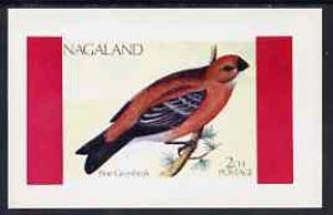 Nagaland 1973 Pine Grosbeak imperf souvenir sheet (2ch value) unmounted mint