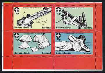 Bernera 1982 75th Anniversary of Scouting perf set of 4 unmounted mint