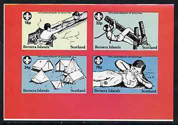 Bernera 1982 75th Anniversary of Scouting imperf set of 4 unmounted mint